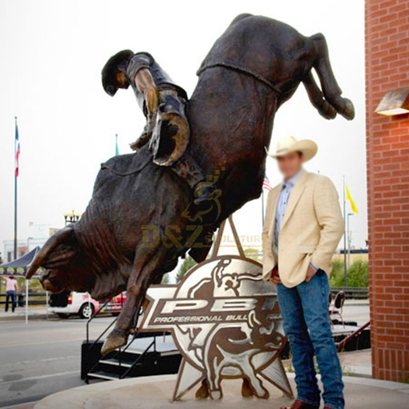 Outdoor street matador bronze bull sculpture decoration