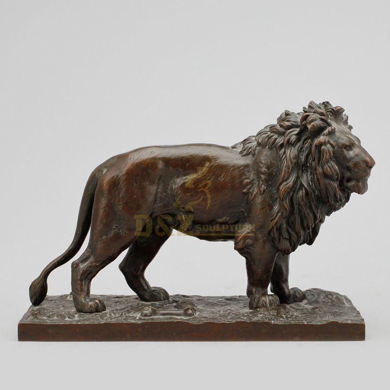 Decorative Outdoor Bronze Lion Sculpture animal state for garden