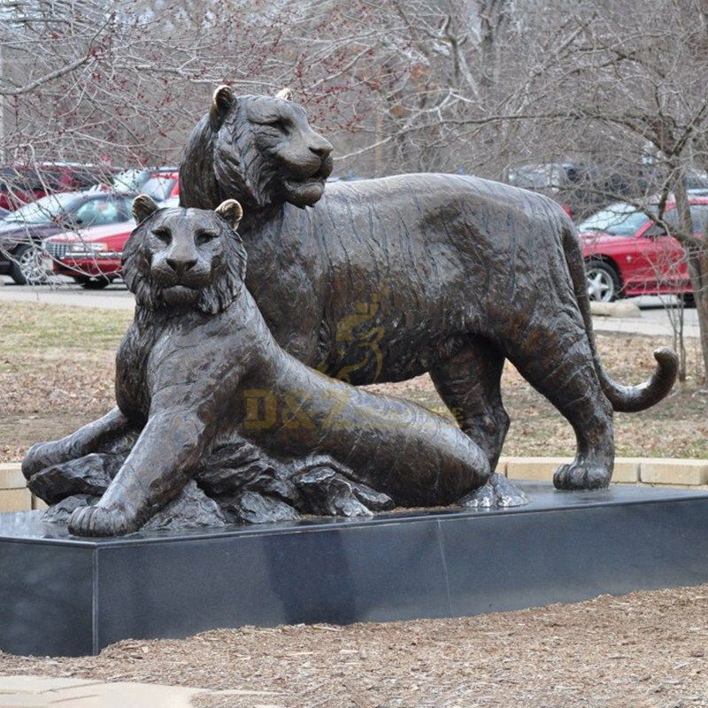 Outdoor Life Size Bronze Tiger Statues