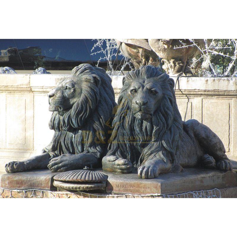 Popular bronze garden decoration sculpture lion statue