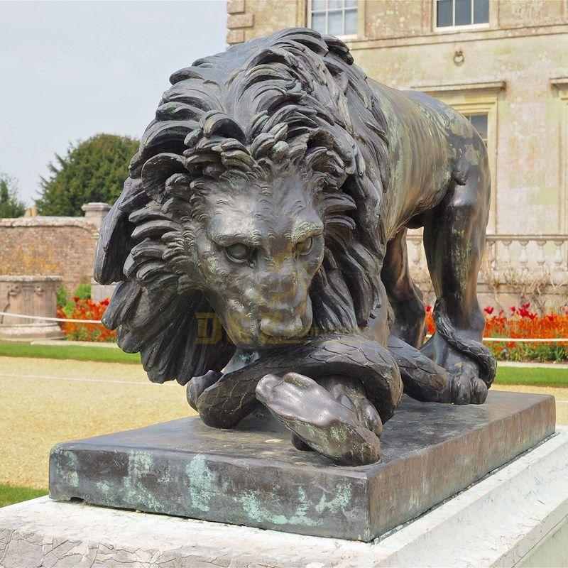 Bronze outdoor lion statue Decorative Sculpture