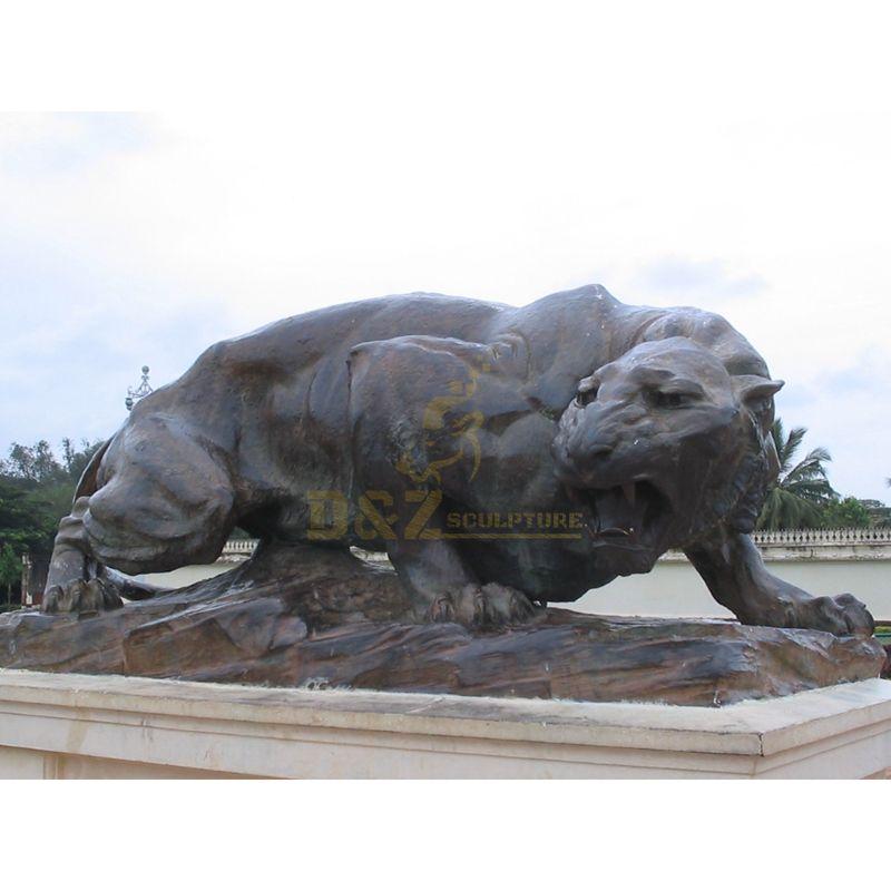 Sale good quality life-size art bronze animal large leopard statue