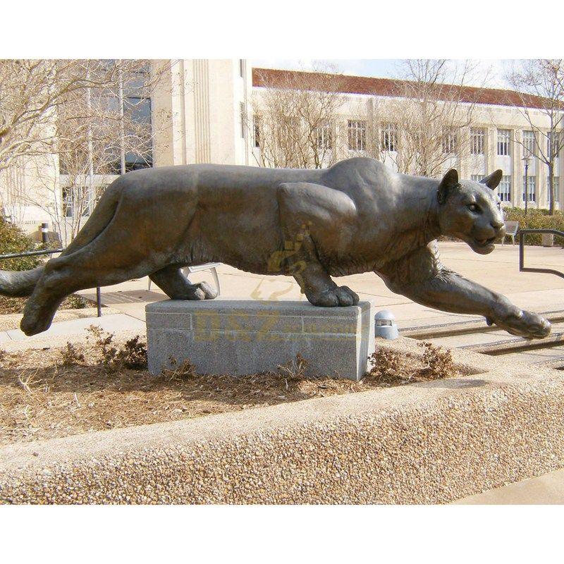 Life size leopard sculpture ornament animal bronze sculpture