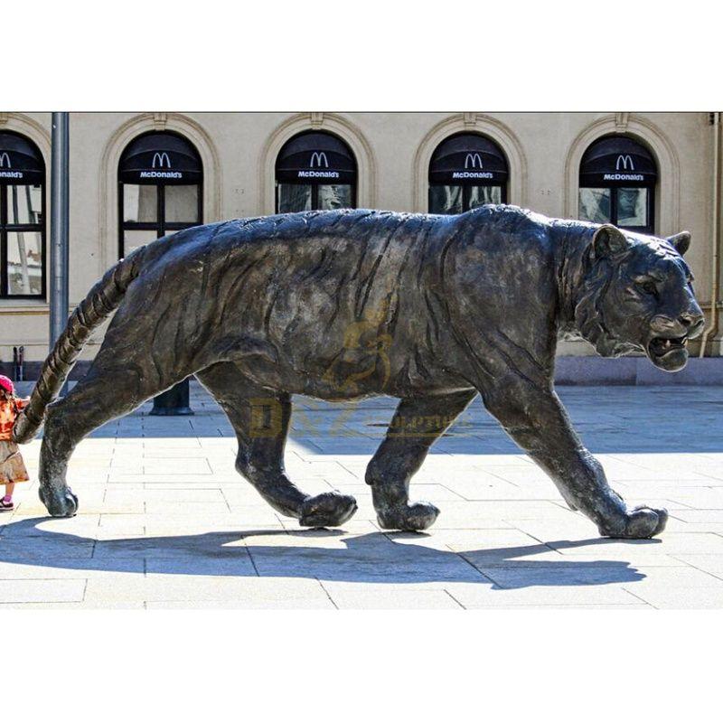 Art Animal Statue Life size Modern Bronze Tiger Sculpture