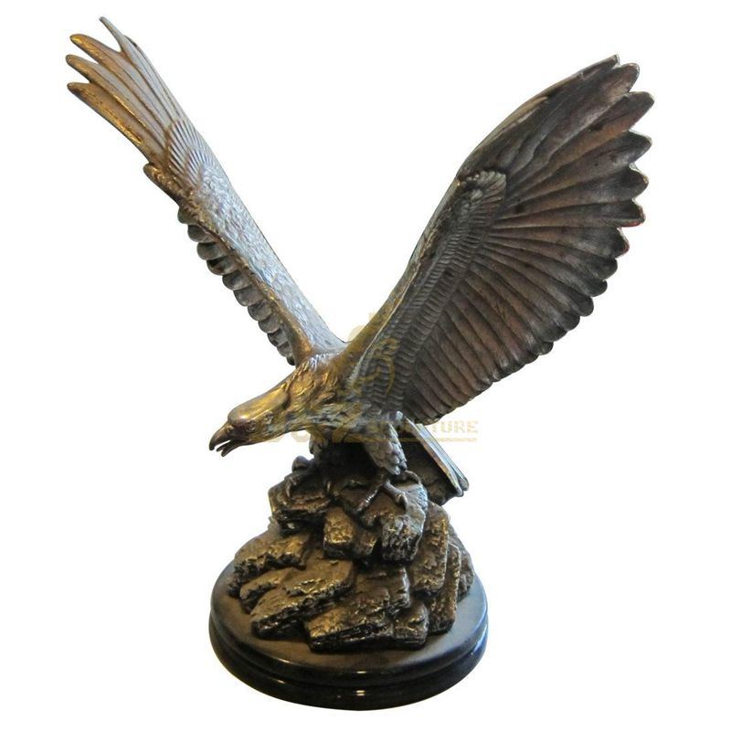 Garden Outdoor Cast Bronze Eagle Sculpture