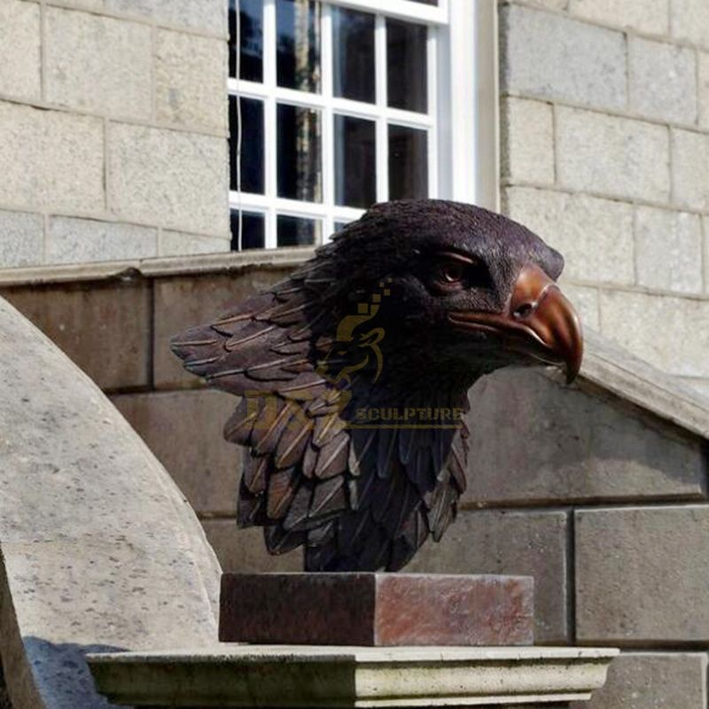Art garden bronze eagle head sculpture