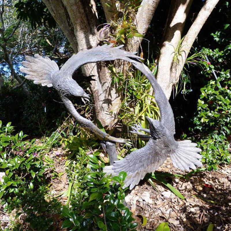 Outdoor large size bronze eagle sculptures