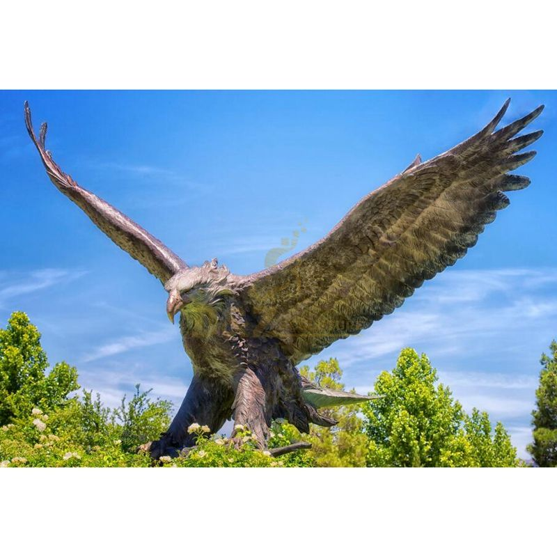 Large outdoor garden statue bronze eagle sculpture for sale