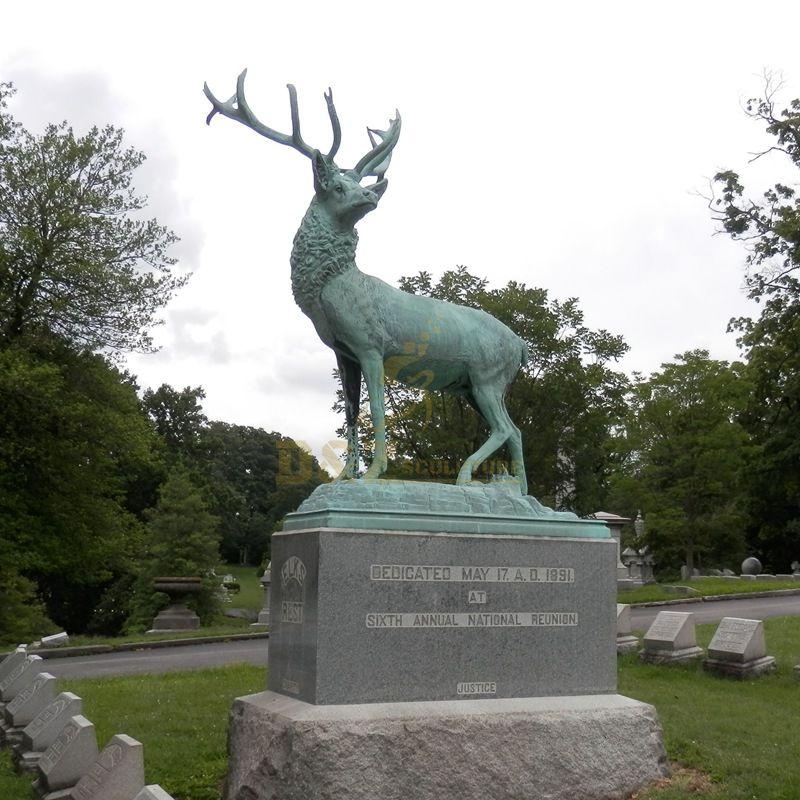 High Quality Bronze Nature Animal Elk Statue