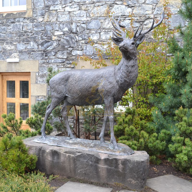 Large size Garden Decorative Bronze Elk Sculpture for Sale