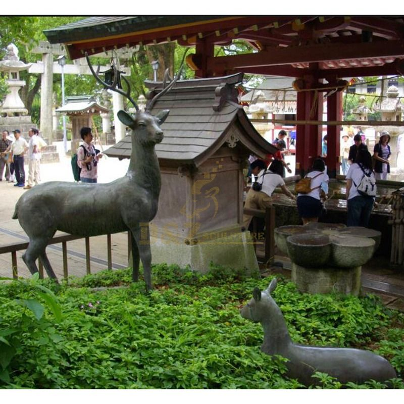 Home Decoration Customized Design Bronze Deer Statues