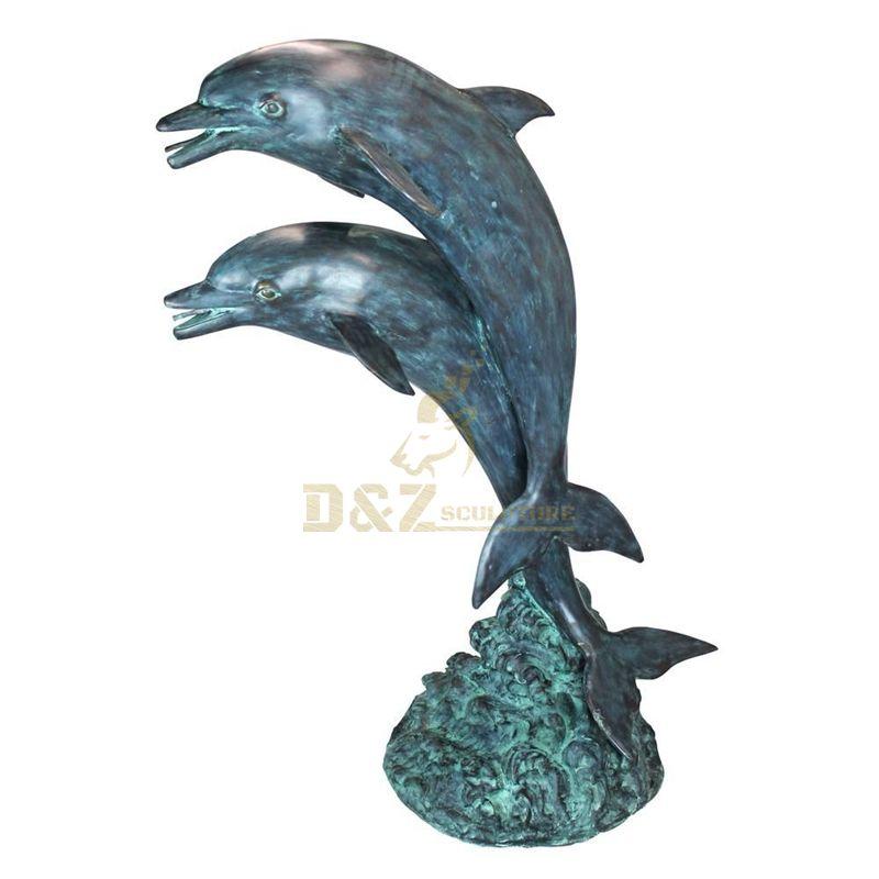 Outdoor Metal Animal Bronze Dolphin Sculpture