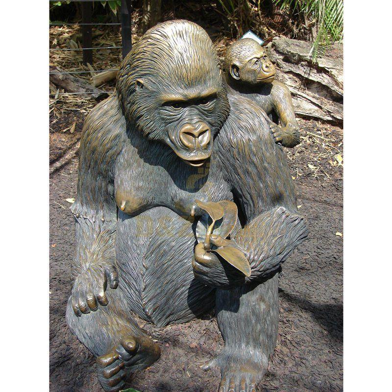 High-Quality Bronze King Kong Orangutan Sculpture