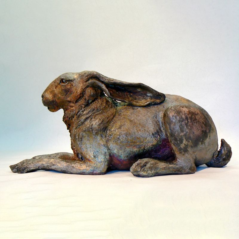 Outdoor Garden Decorative Bronze Rabbit Sculpture