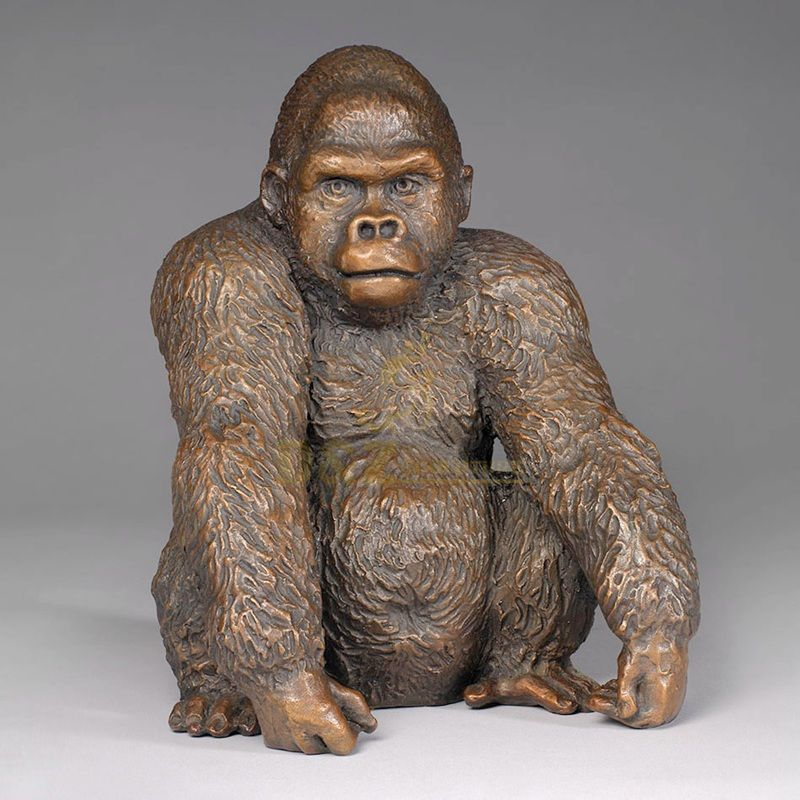 Custom Design Amusement Park Products Bronze Gorilla Statue
