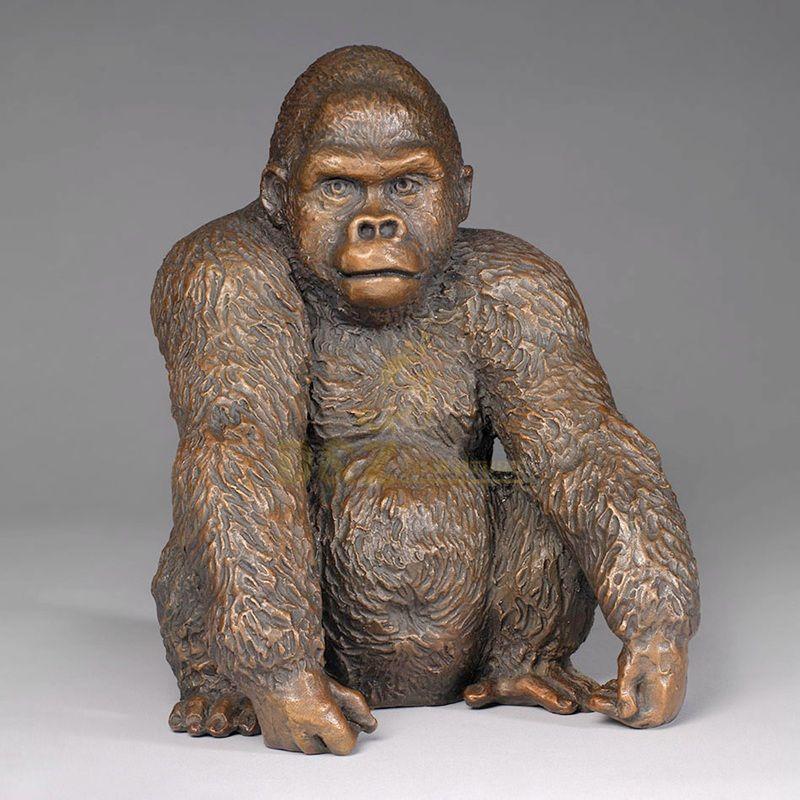 Custom Design Amusement Park Products Bronze Gorilla Statue