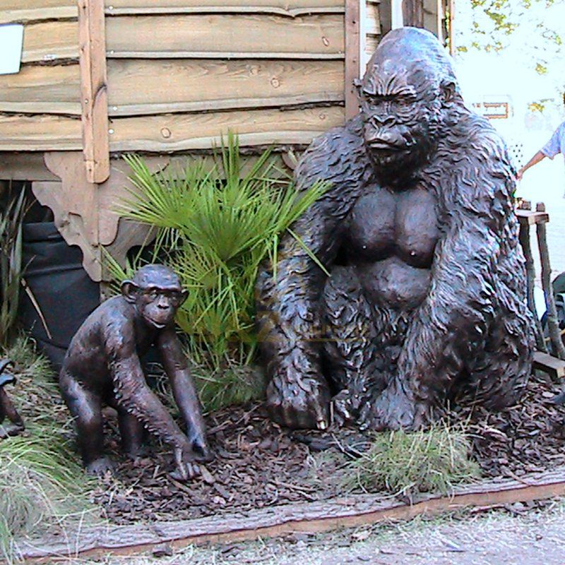 Garden decoration bronze large life size gorilla statue