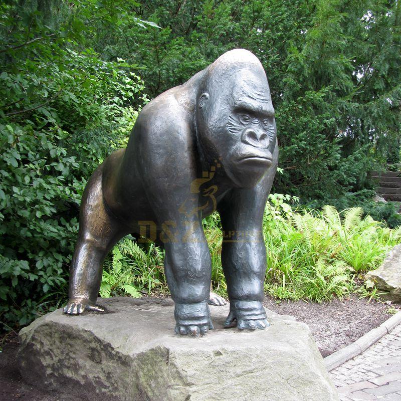 Life Size Bronze Gorilla Sculpture