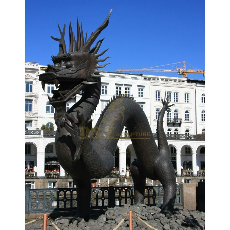 Large outdoor brass animal sculpture bronze dragon statue