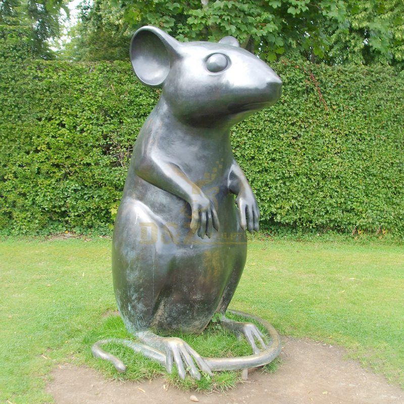 Decorative Classic Cast Bronze Modern mouse statue