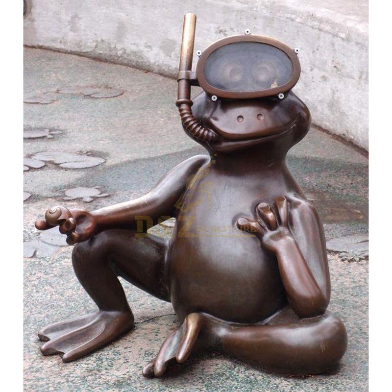 Home garden pool swimming decoration bronze frog sculpture