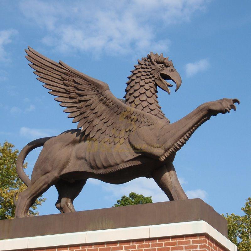 Bronze Flying Bird Sculpture For Garden Decoration