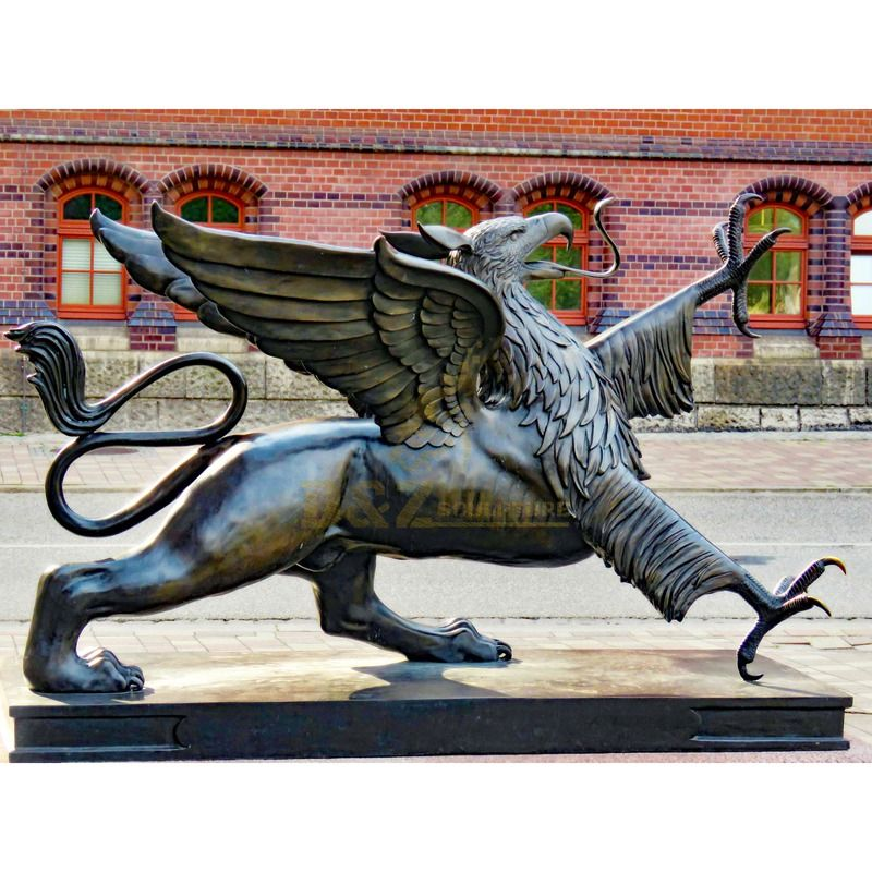 Popular garden decoration bronze flying bird sculpture