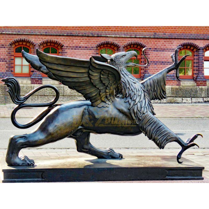 Popular garden decoration bronze flying bird sculpture