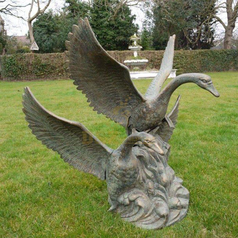 swan garden statue