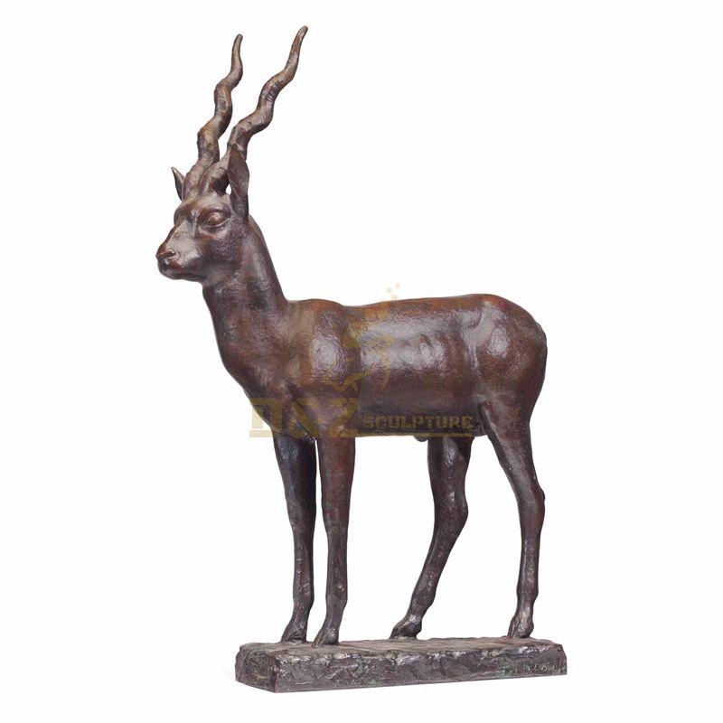 Life Size Bronze antelope Standing Sculpture For Outdoor