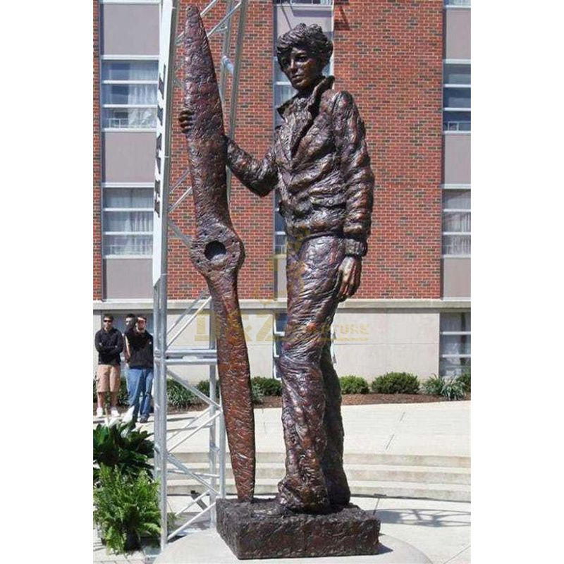 manufacturer handmade life size athlete bronze statue for garden decor