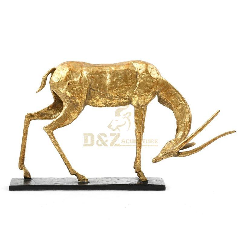 Popular design decorative bronze antelope sculpture