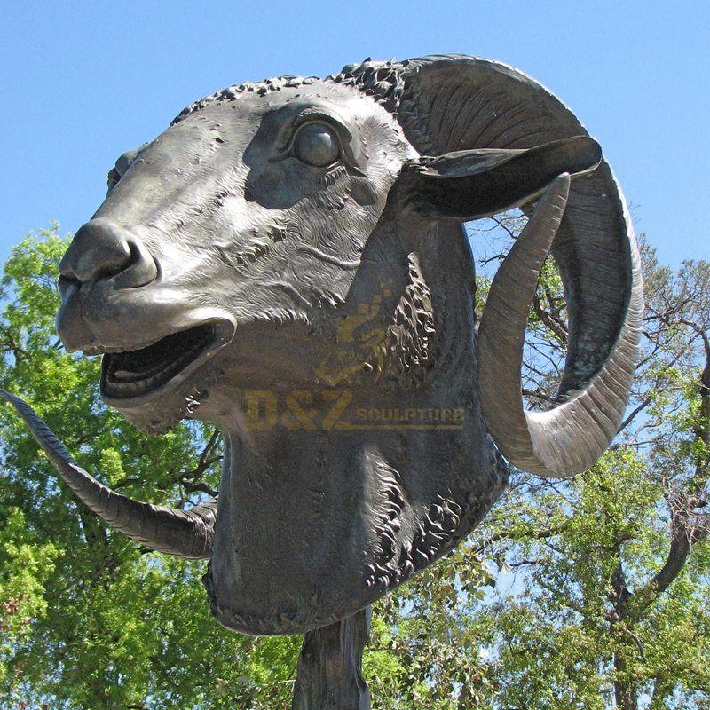 Hot sale bronze antelope bust statue animal sculpture