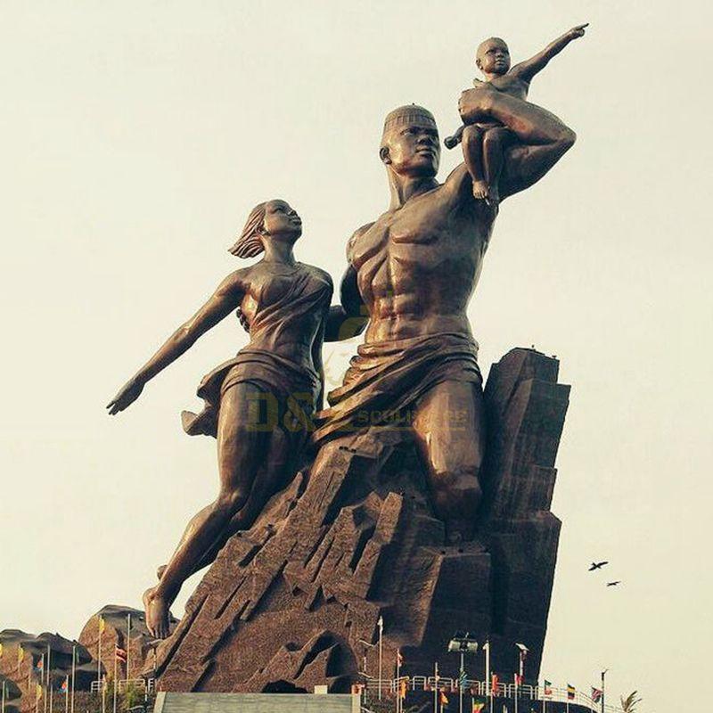 Bronze Body Climbing Athletes Sculpture