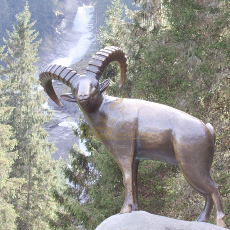 Custom craft brass bronze antelope sculpture
