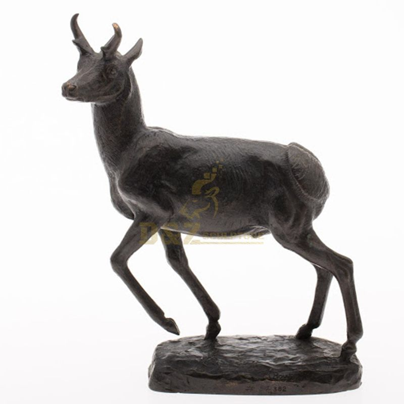 Outdoor garden park decoration customized size bronze antelope sculpture