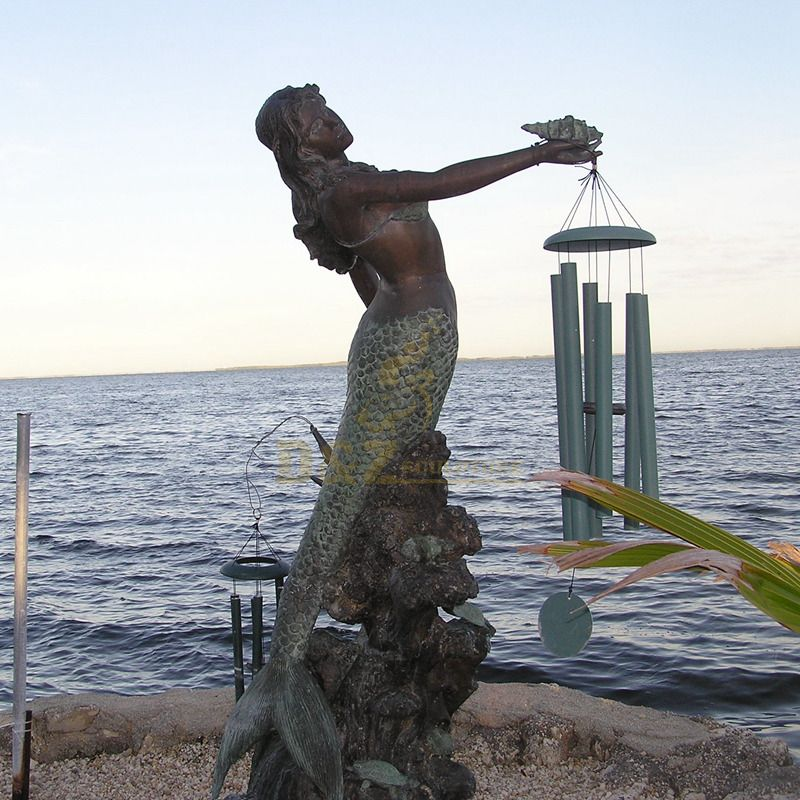 Famous outdoor n bronze mermaid statue seaside sculpture