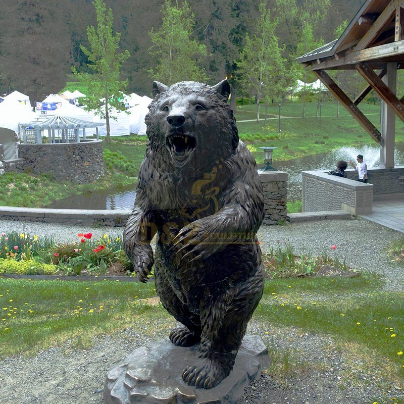Modern Arts and Designs Bronze Bear Statue for Garden Decoration
