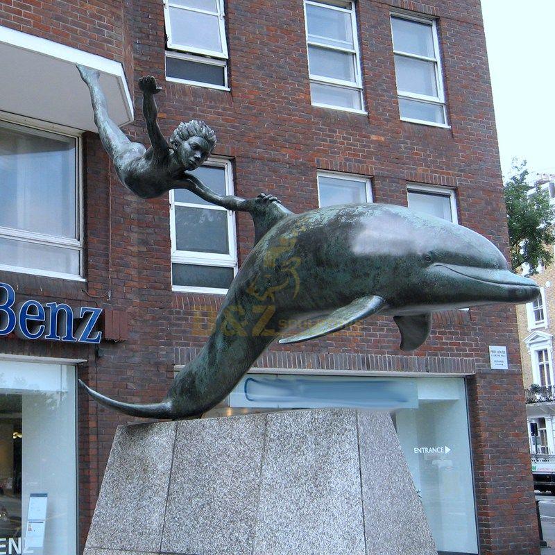 Outdoor Brass Statue Bronze dolphin Sculpture For Park
