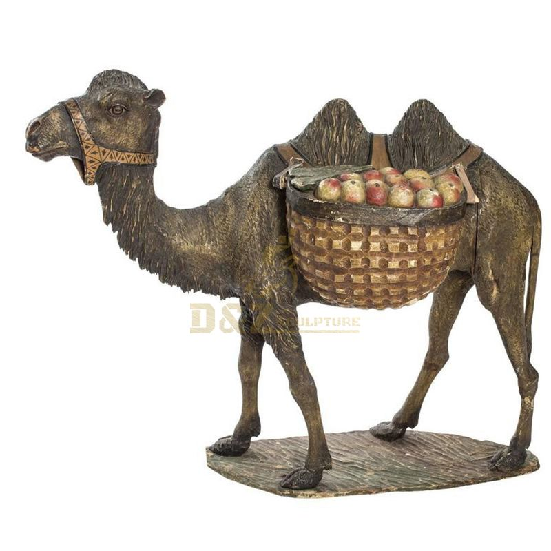 Life size bronze camel sculpture for park decoration