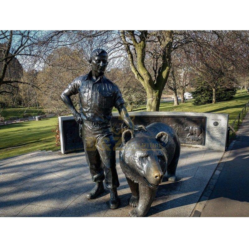 Life Size Outdoor Garden Casting Brass Bears Statues