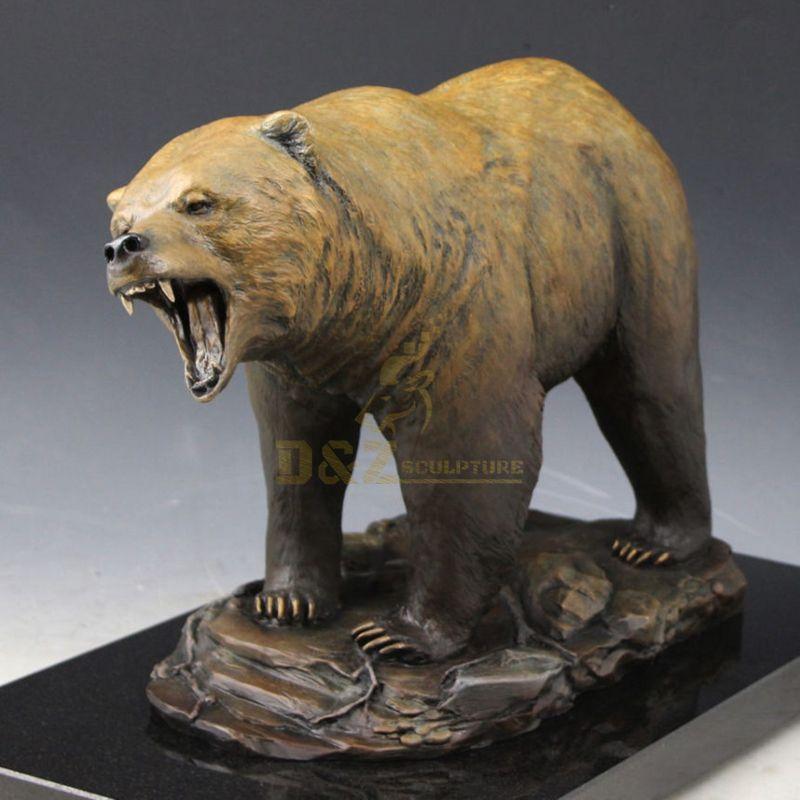 Large Life Size Outdoor Cast Bronze Brass Bear Sculpture