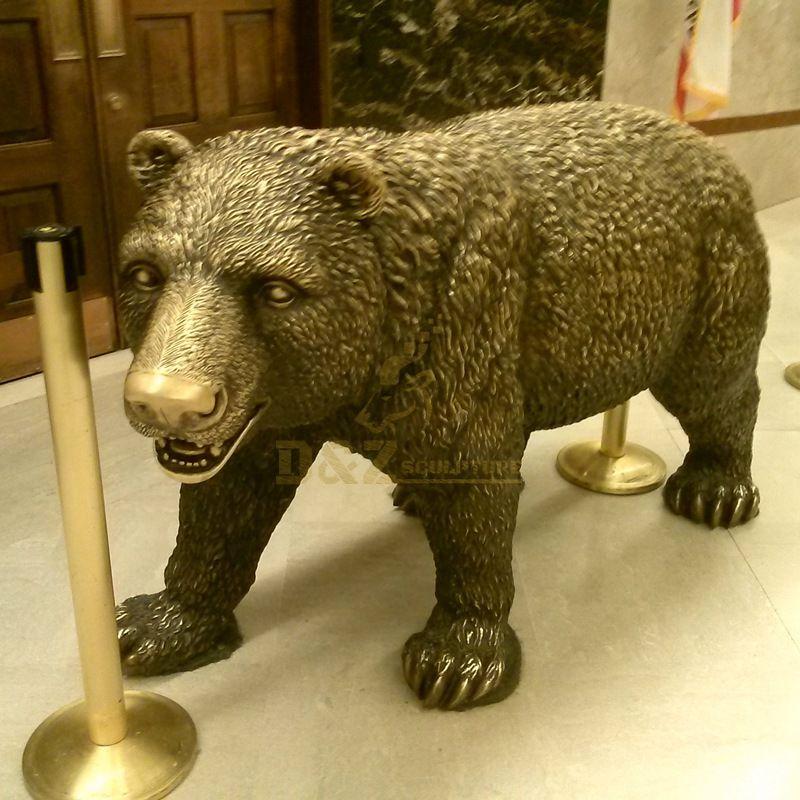 Life size garden famous statue bear bronze sculpture