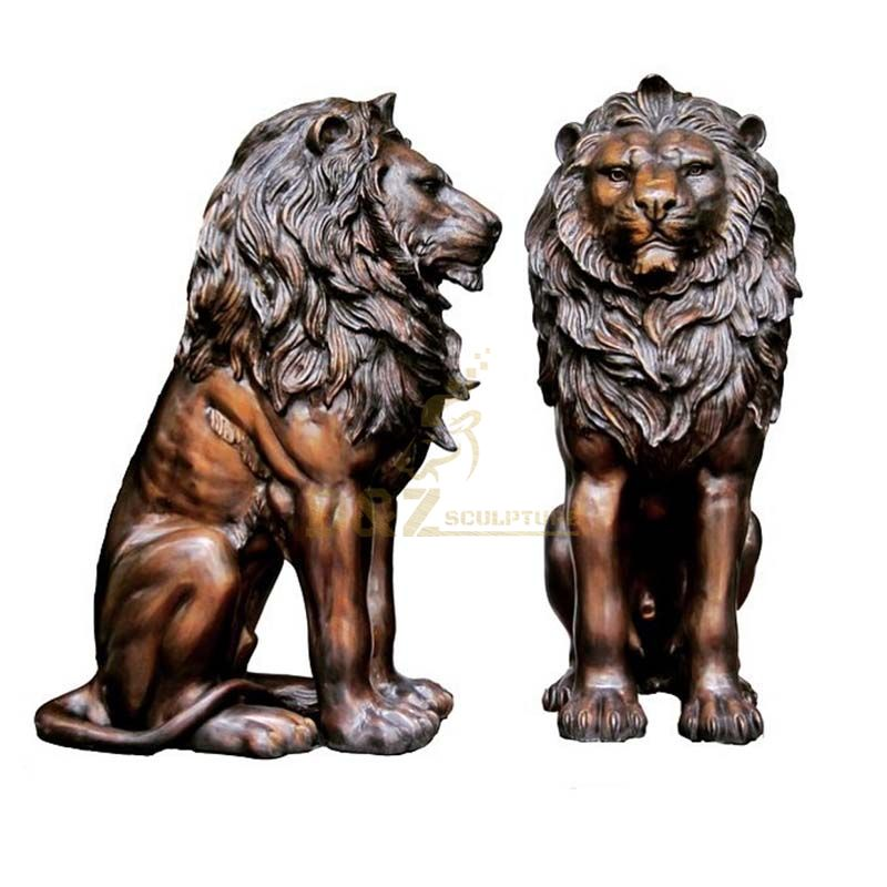 High Quality Outdoor Life Size Bronze Lion Statues
