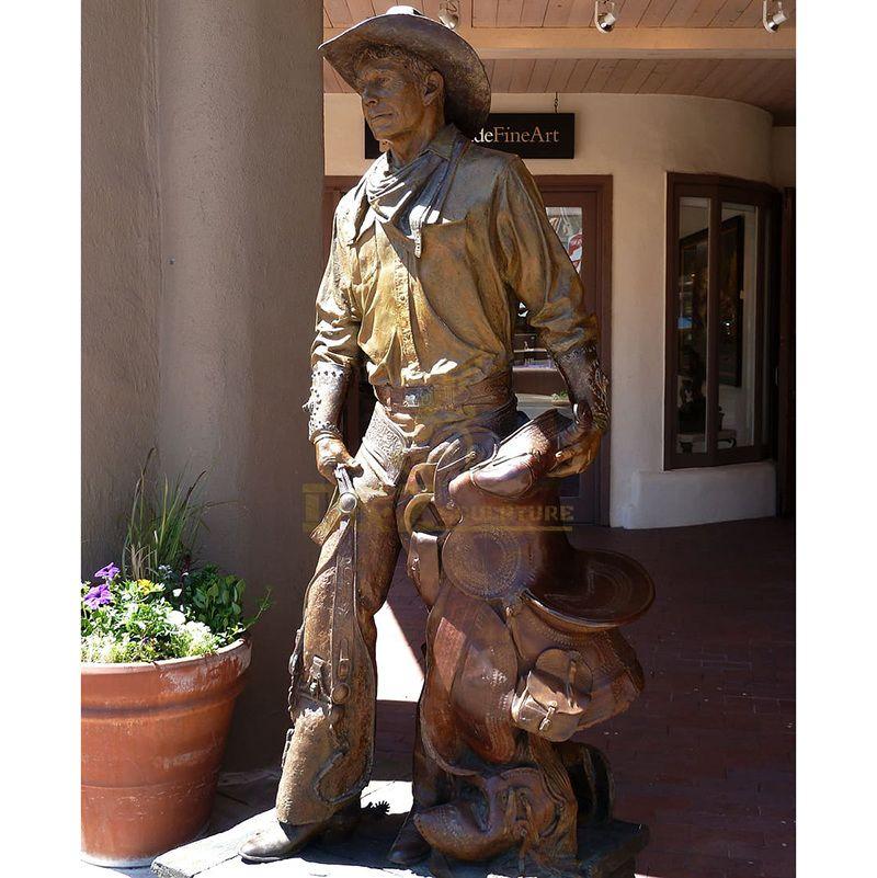 Hottest China Wholesale Cowboy Bronze Sculpture