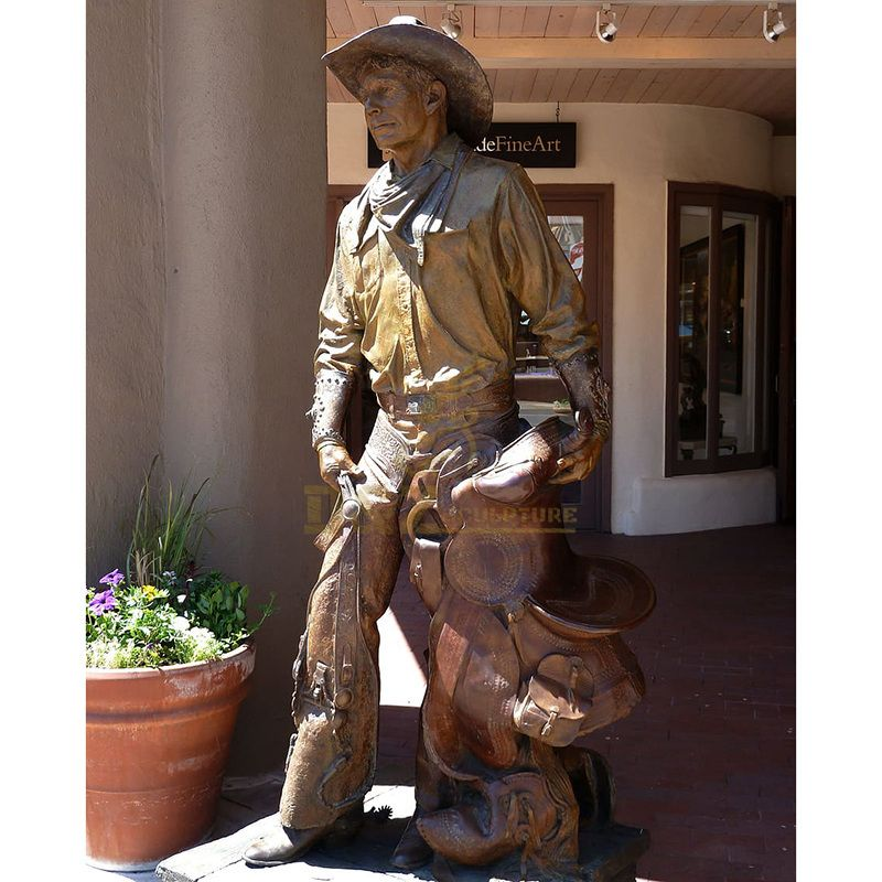 Hottest China Wholesale Cowboy Bronze Sculpture