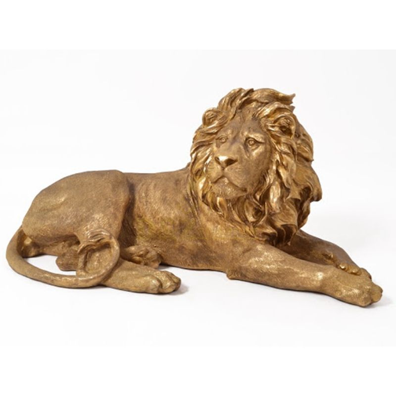 Customized size outdoor art hand crafts bronze lion sculptures for sale
