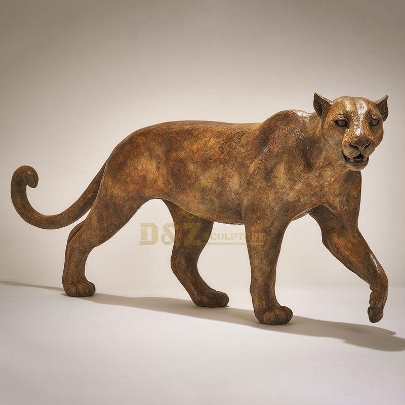 Garden Decoration Metal Crafts animal bronze leopard sculpture