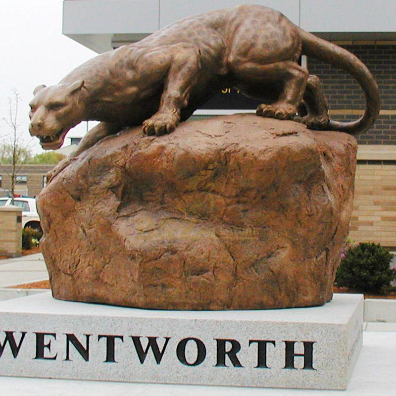 Life size brass cheetah statue bronze leopard sculpture