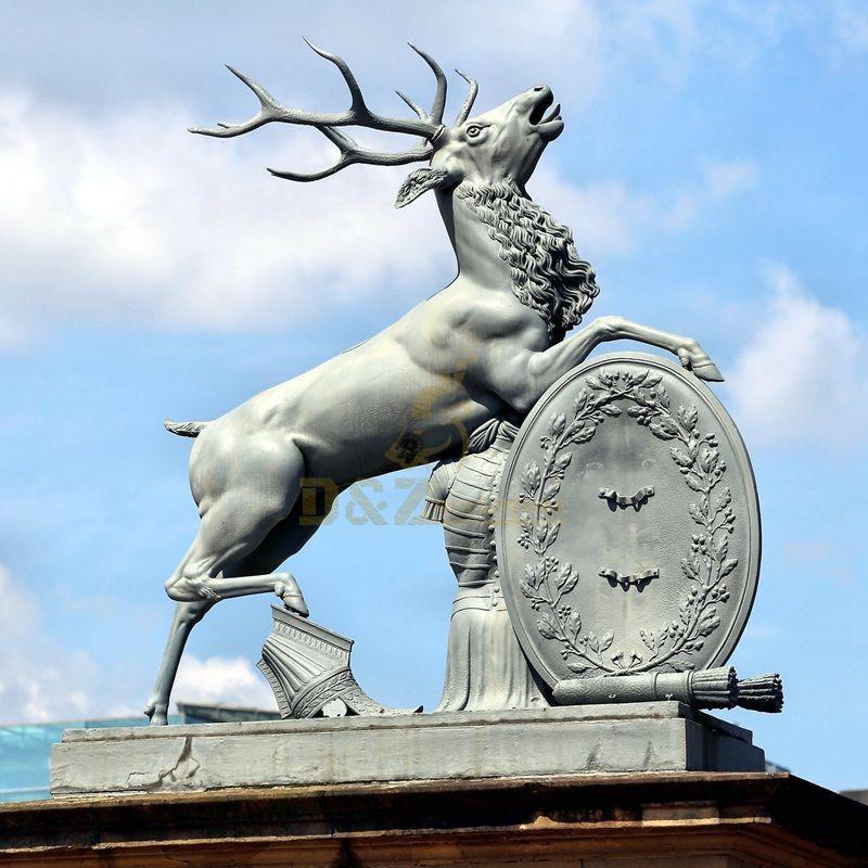Outdoor life size bronze elk sculpture